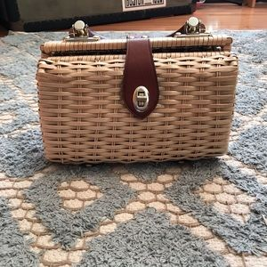 Handbags - 1960s Mr. Rolf Wicker Purse